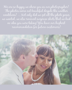 Ong Wedding Testimonial_Sunset Beach Wedding_pearl necklace_long veil_outdoor ceremony_tan suit