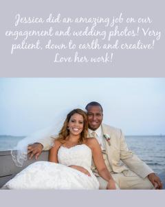 Hall Wedding Testimonial_Sunset Beach Wedding_Coral wedding colors_tan suit_lace dress_Community center