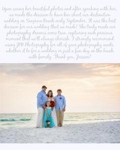Mason Wedding Testimonial_Sunset Beach Wedding_Baseball hat groom_Cathedral veil bride_red roses