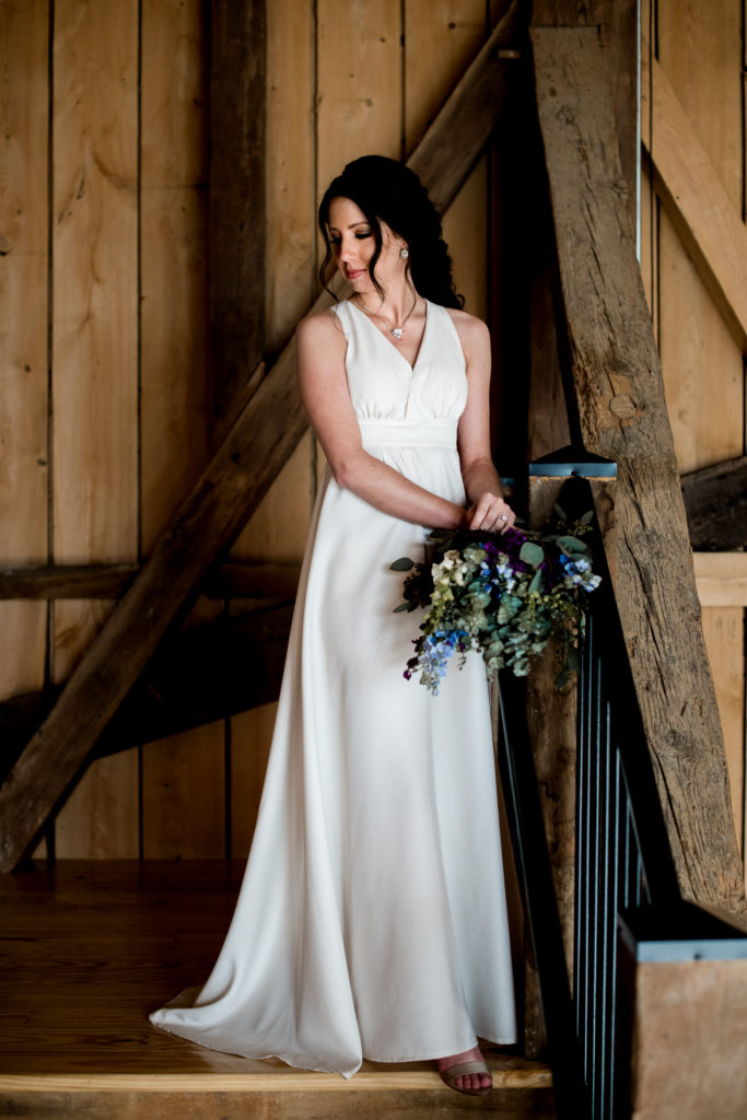 Jessica Patricia Photography Barn Bridal Portrait